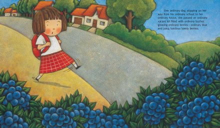 celebrate-picture-books-picture-book-review-Ordinary-Mary's-Extraordinary-Day-blueberries
