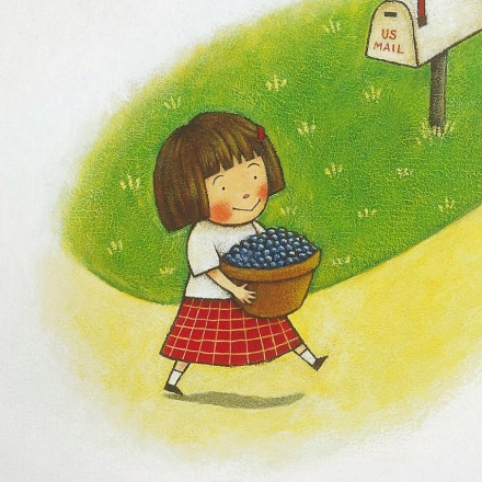 celebrate-picture-books-picture-book-review-ordinary-mary's-extraordinary-deed-blueberries