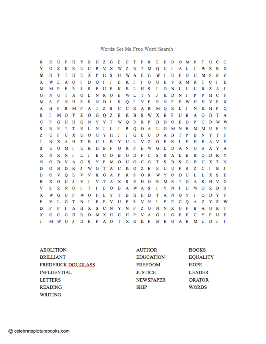 CPB - Words Set Me Free word search