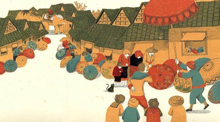 celebrate-picture-books-picture-book-review-the-umbrella-queen-emperor-visits