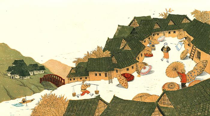 celebrate-picture-books-picture-book-review-the-umbrella-queen-village