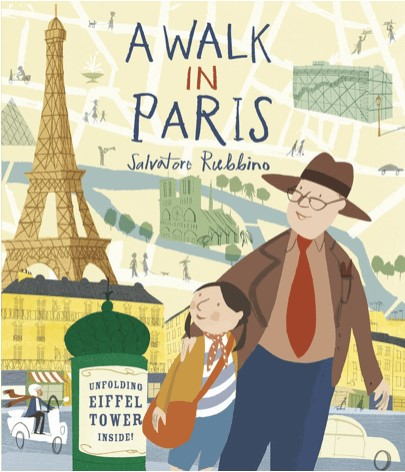 A Walk in Paris by Salvatore Rubbino Picture Book Review