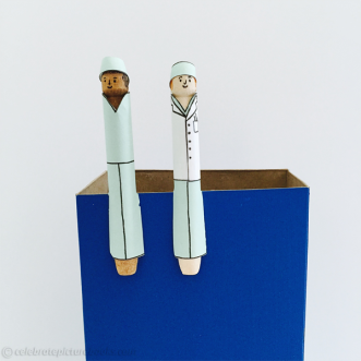 CPB - Doctors Clothespins on box
