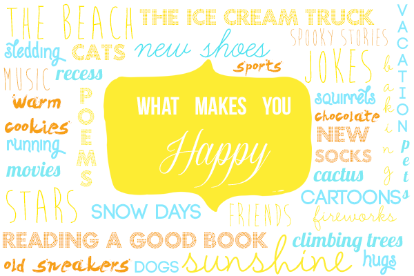 CPB - Happiness typography