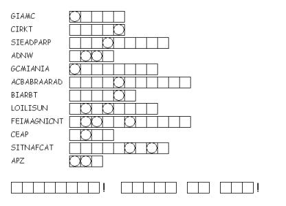 CPB - Magic Word Scramble II