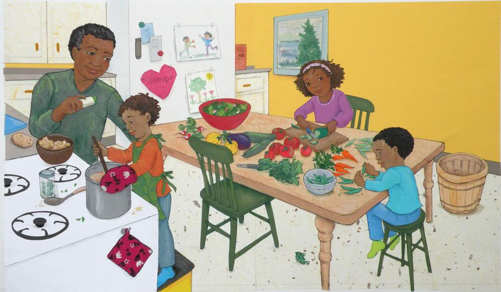 celebrate-picture-books-picture-book-review-rainbow-stew-interior-art-cooking-together