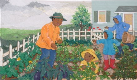 celebrate-picture-books-picture-book-review-rainbow-stew-interior-art-in-the-garden