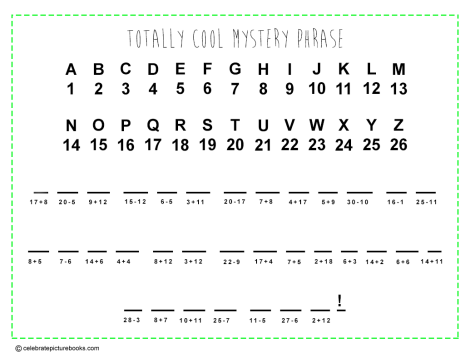 CPB - Math Mystery Phrase