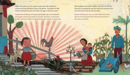 celebrate-picture-books-picture-book-review-waiting-for-the-biblioburro-bilingual-edition-sunrise