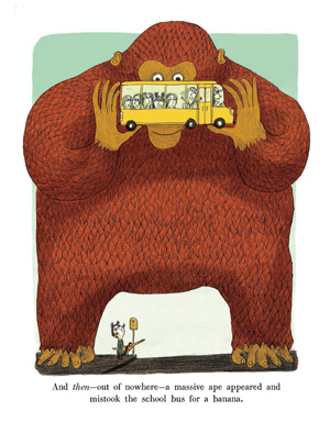 celebrate-picture-books-picture-book-review-a-funny-thing-happened-on-the-way-to-school-ape