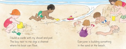 celebrate-picture-books-picture-book-review-at-the-beach-interior-art-kids-playing