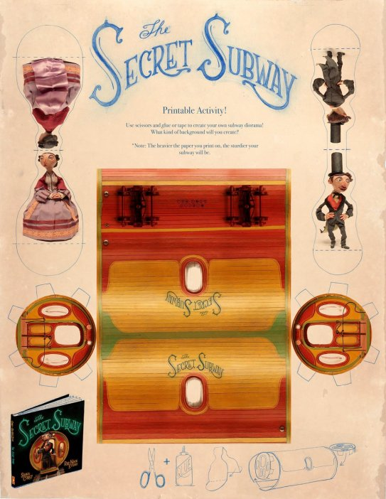 celebrate-picture-books-picture-book-review-the-secret-subway-chris-sickels-craft