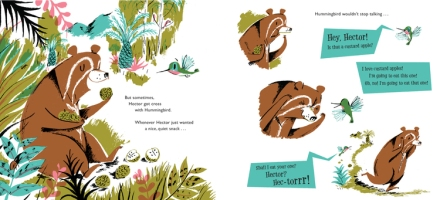 celebrate-picture-books-picture-book-review-hector-and-hummingbird-interior-art-bear-cross