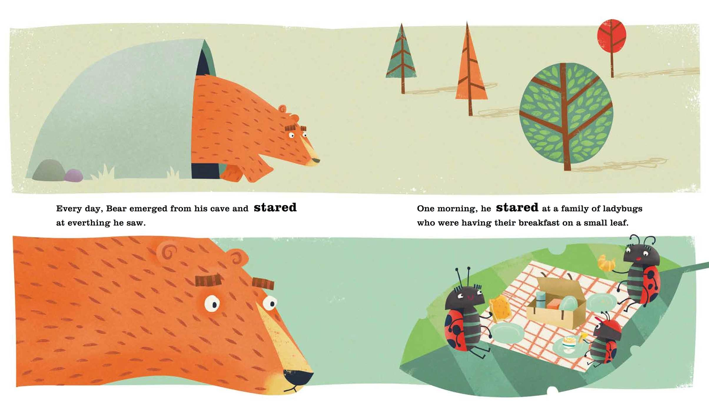 celebrate-picture-books-picture-book-review-the-bear-who-stared-interior-art-ladybugs