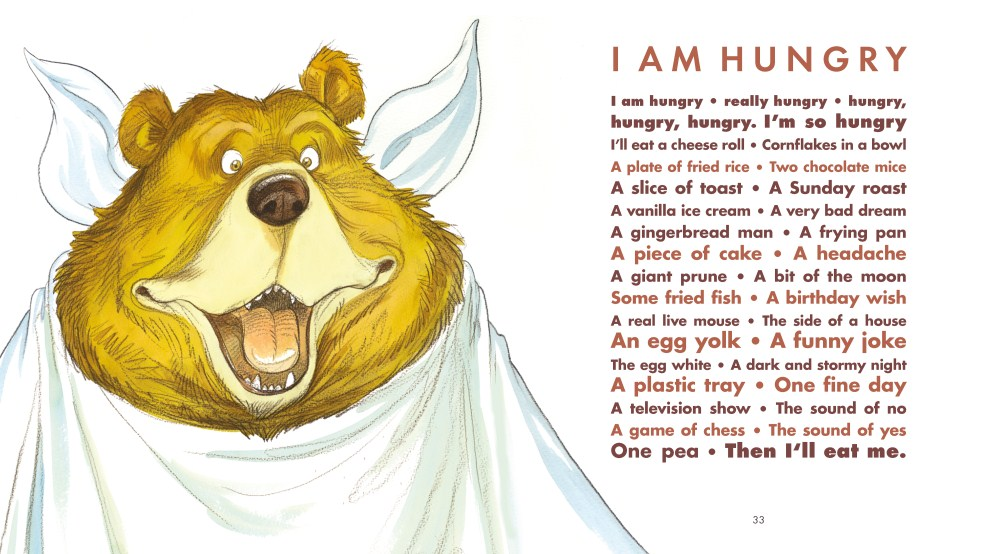 celebrate-picture-books-picture-book-review-a-great-big-cuddle-poems-for-the-Very-Young-i-am-hungry