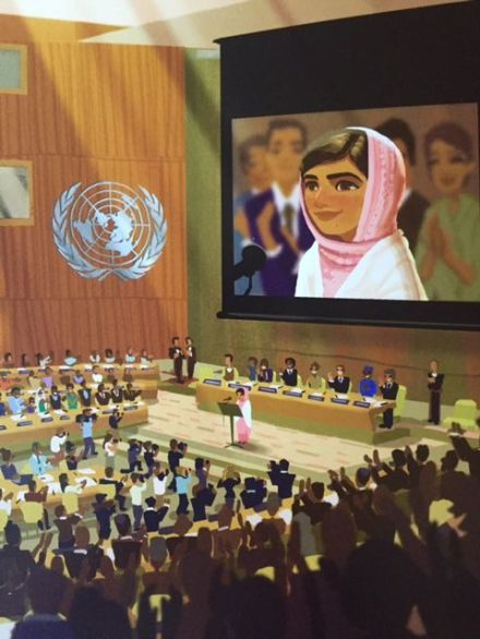 celebrate-picture-books-picture-book-review-for-the-right-to-learn-malala-yousafzai's-story-speaking-to-the-UN
