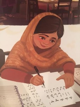 celebrate-picture-books-picture-book-review-for-the-right-to-learn-malala-yousafzai's-story-writing