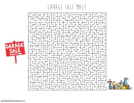 celebrate-picture-books-picture-book-review-garage-sale-maze
