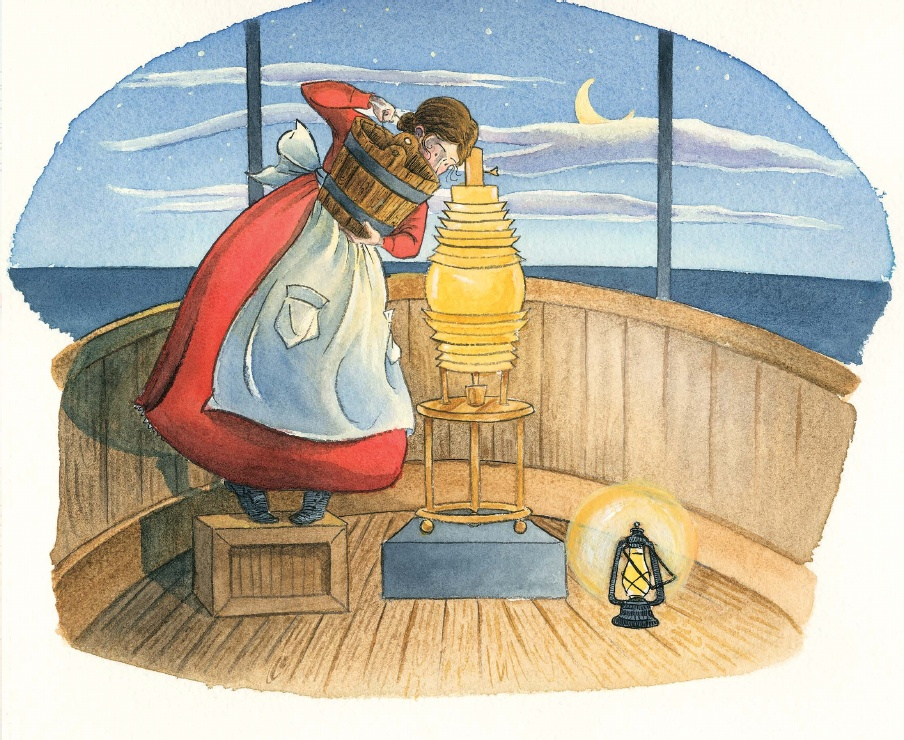 celebrate-picture-books-picture-book-review-miss-colfax's-light-harriet-adding-oil