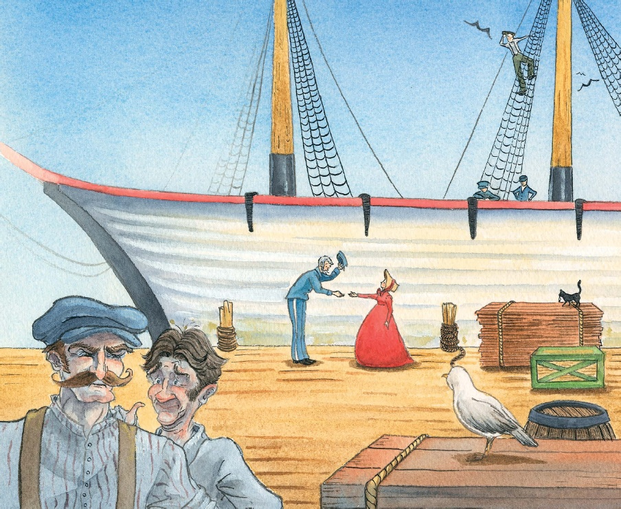 celebrate-picture-books-picture-book-review-miss-colfax's-light-meeting-a-ship-captain