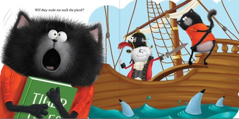 celebrate-picture-books-picture-book-review-splat-the-cat-and-the-late-library-book-walk-the-plank