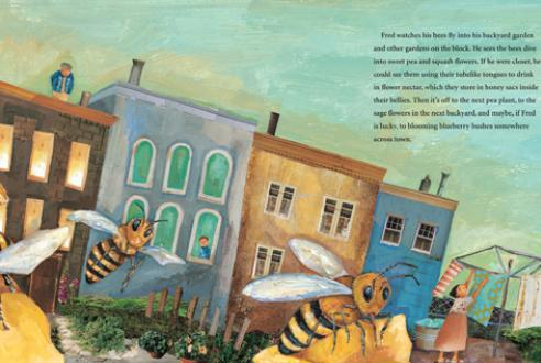 celebrate-picture-books-picture-book-review-the-honeybee-man-in-the-garden