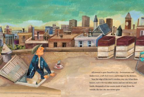 celebrate-picture-books-picture-book-review-the-honeybee-man-on-the-roof