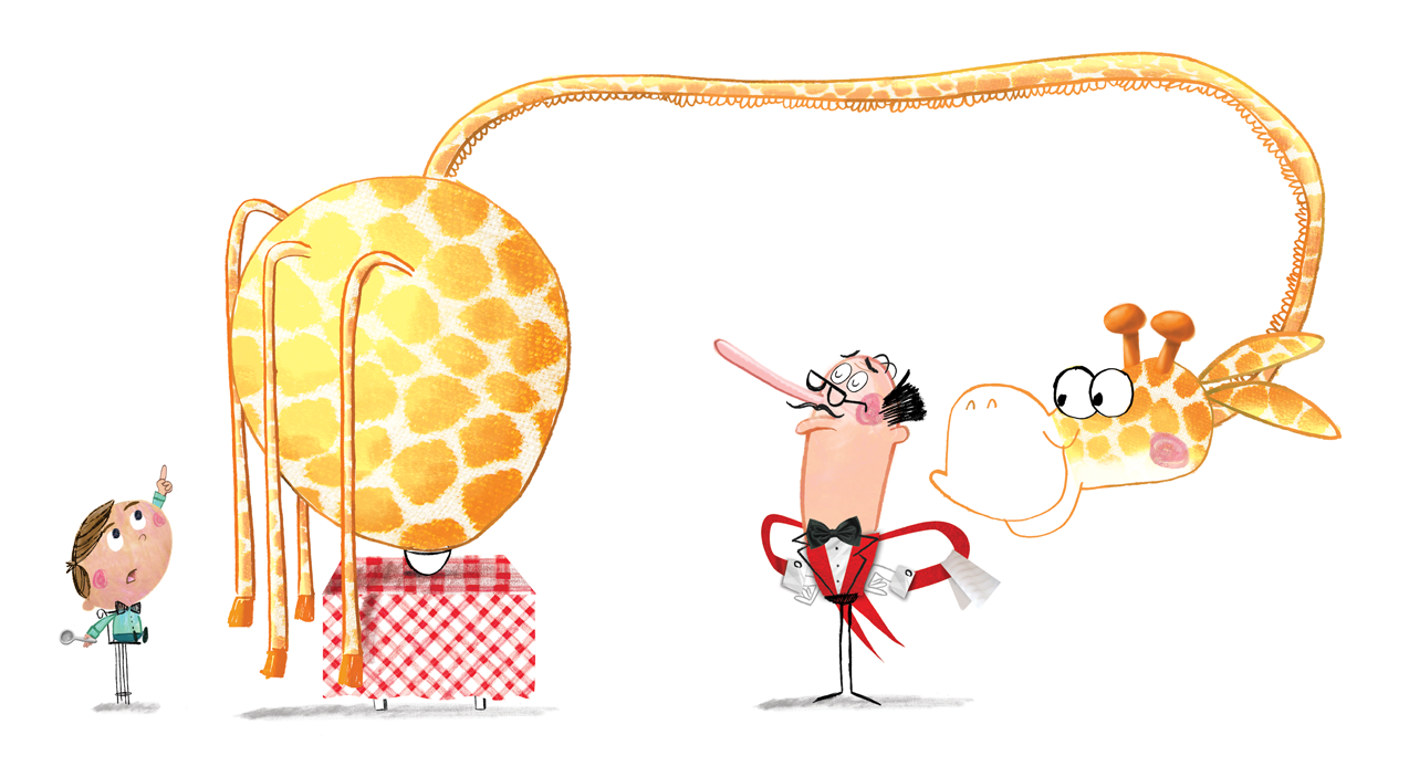 celebrate-picture-books-picture-book-review-there's-a-giraffe-in-my-soup-waiter-and-giraffe