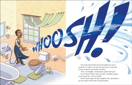 celebrate-picture-books-picture-book-review-whoosh!-lonnie-johnson's-super-soaking-stream-of-inventions-water-powered-nozzle