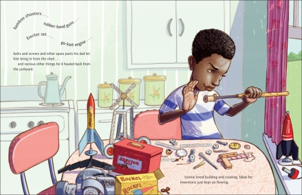 celebrate-picture-books-picture-book-review-whoosh!-lonnie-johnson's-super-soaking-stream-of-inventions-young-lonnie-inventing