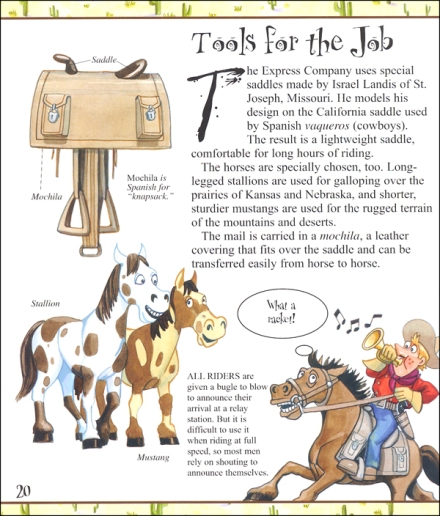 celebrate-picture-books-picture-book-review-you-wouldn't-want'to-be-a-pony-express-rider-interior-art