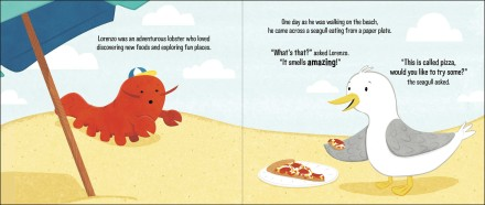celebrate-picture-books-picture-book-review-lorenzo-the-pizza-loving-lobster-riding-introduced-to-pizza