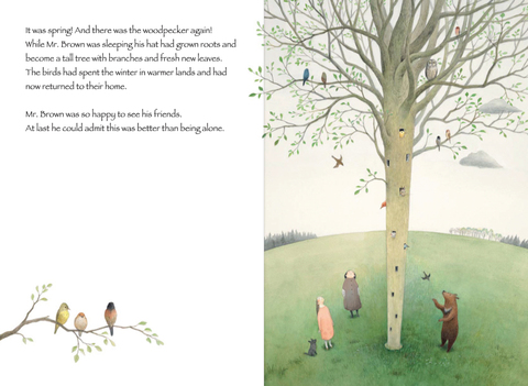 celebrate-picture-books-picture-book-review-mr-brown's-fantastic-hat-hat-grows-into-tree