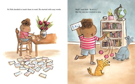 celebrate-picture-books-picture-book-review-the-summer-nick-taught-his-cats-to-read-ball