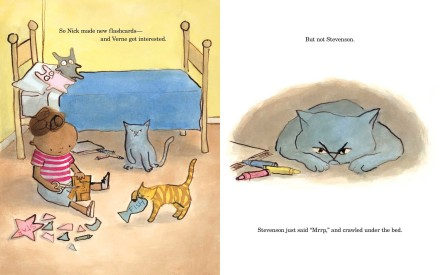 celebrate-picture-books-picture-book-review-the-summer-nick-taught-his-cats-to-read-grumpy-stevenson