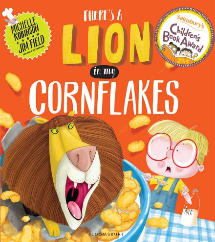 celebrate-picture-books-picture-book-review-there's-a-lion-in-my-cornflakes-cover