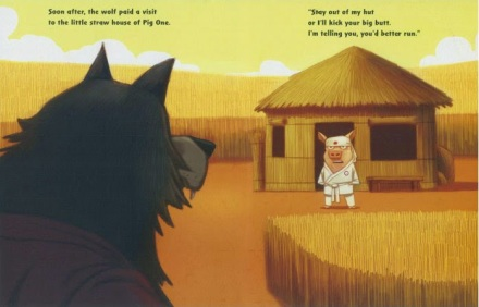 celebrate-picture-books-picture-book-review-three-ninja-pigs-house-of-straw
