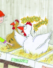 celebrate-picture-books-picture-book-review-what's-up-with-this-chicken-trudy-squawking