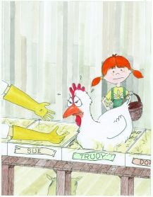celebrate-picture-books-picture-book-review-what's-up-with-this-chicken-picking-up-trudy