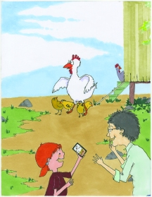 celebrate-picture-books-picture-book-review-what's-up-with-this-chicken-protecting-chicks