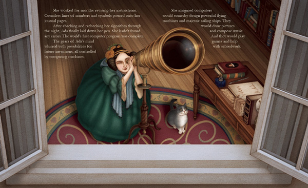 celebrate-picture-books-picture-book-review-ada-byron-lovelace-and-the-thinking-machine-looking-at-stars