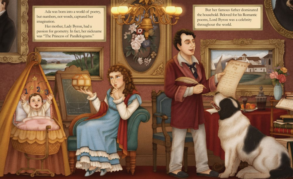 celebrate-picture-books-picture-book-review-ada-byron-lovelace-and-the-thinking-machine-ada's-parents