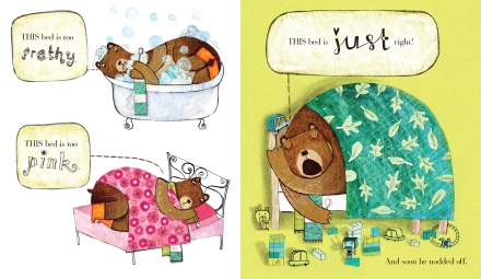 celebrate-picture-books-picture-book-review-goldilocks-and-just-one-bear-bed