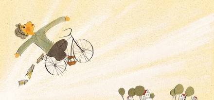 celebrate-picture-books-picture-book-review-on-a-beam-of-light-albert-riding-bike