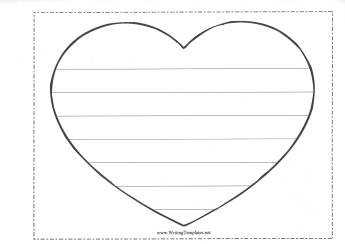 heart shaped writing template writing resources for kids