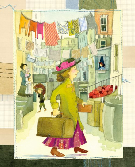 celebrate-picture-books-picture-book-review-brave-girl-clara-and-the-shirtwaist-makers'-strike-of-1909-clara-comes-to-town