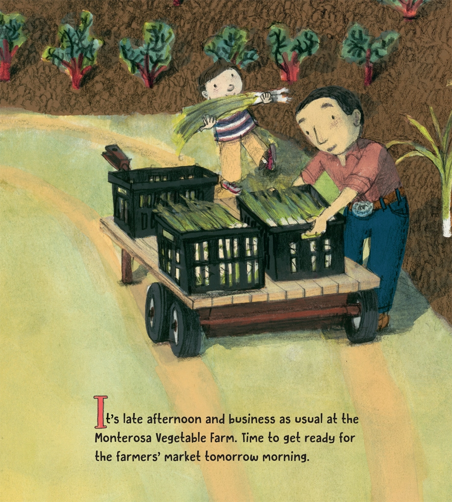 celebrate-picture-books-picture-book-review-on-the-farm-at-the-market-vegetable-farm