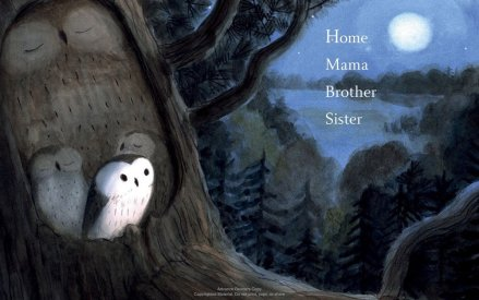 celebrate-picture-books-picture-book-review-owl-sees-owl-flying-home-mama