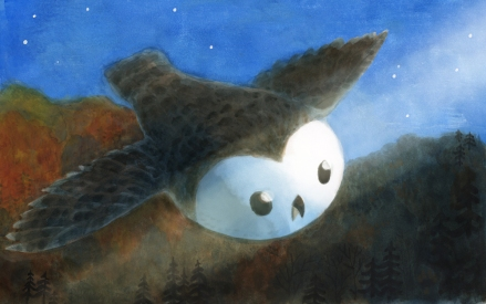 celebrate-picture-books-picture-book-review-owl-sees-owl-eyes-gleam
