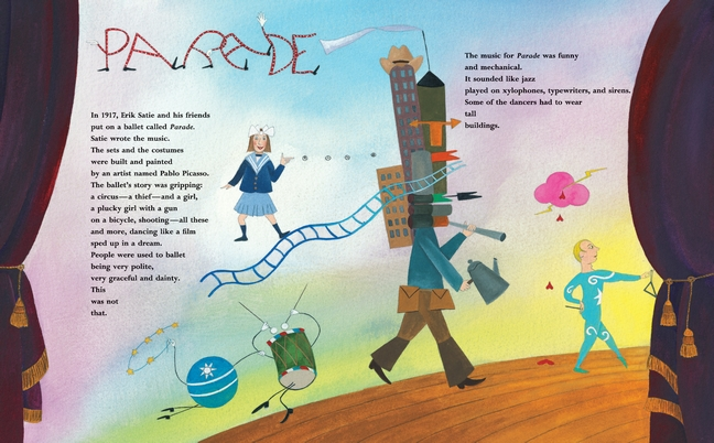 celebrate-picture-books-picture-book-review-strange-mr-satie-parade-ballet
